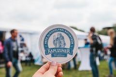 Praga, el 23 de septiembre de 2017: Celebración del festival alemán tradicional Oktoberfest de la cerveza en la República Checa L Imagen de archivo libre de regalías