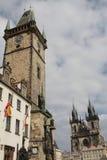 Praga: el viejo cuadrado de ciudad Imagen de archivo