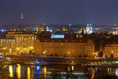 Praga em Noite Imagem de Stock Royalty Free