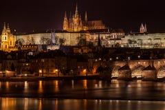 Praga em Noite Imagem de Stock