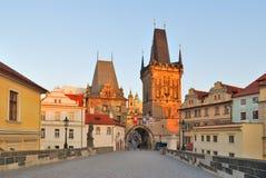 Praga en el amanecer Fotos de archivo