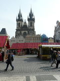 Praga en el namesti de Staromestke Imagen de archivo libre de regalías
