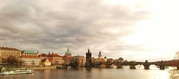 Praga en invierno Foto de archivo libre de regalías