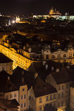 Praga entro Night Fotografie Stock Libere da Diritti