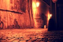 Praga entro Night Immagini Stock