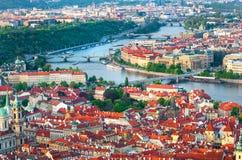 Praga es el capital de la República Checa Foto de archivo libre de regalías
