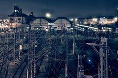 Praga - estação de caminhos-de-ferro central Fotos de Stock