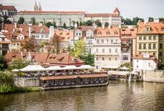 Praga, fiume di Labe Immagine Stock