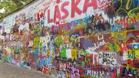 Praga för John lennonvägg Royaltyfri Foto