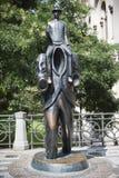 Praga. Franz Kafka Statue Foto de Stock