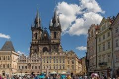 PRAGA - 23 GIUGNO 2015: Uno del posto popolare famoso di viaggio in mondo immagine stock libera da diritti