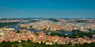 Praga i Vltava zdjęcie royalty free
