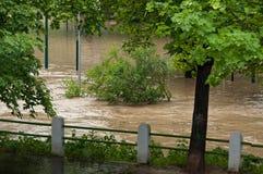 Praga inondazione giugno 2013 fotografie stock libere da diritti
