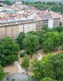 Praga inondazione giugno 2013 immagini stock