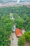 Praga inondazione giugno 2013 immagini stock libere da diritti