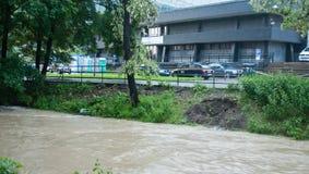 Praga inondazione giugno 2013 immagine stock libera da diritti