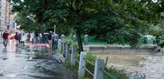 Praga inondazione giugno 2013 fotografia stock libera da diritti