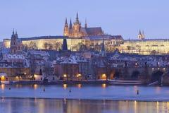 Praga in inverno Fotografia Stock