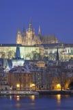 Praga in inverno Immagine Stock