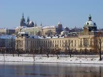 Praga. Inverno Immagini Stock Libere da Diritti