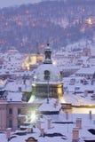 Praga in inverno Fotografie Stock Libere da Diritti