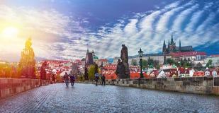 Praga jest kapitałem republika czech Obrazy Stock