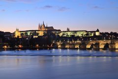 Praga kasztel obrazy stock