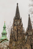 Praga kasztel i St. Vitus katedra Obrazy Stock