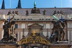 Praga kasztel, Matthias brama Zdjęcia Royalty Free