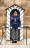 Praga, kasztelu strażnik Zdjęcie Stock