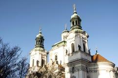 Praga kościół St. Nicholas Obrazy Royalty Free