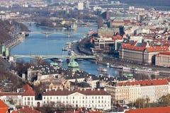 Praga. La Moldava. Ponti. Fotografie Stock Libere da Diritti