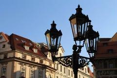 Praga - lanterna della via Immagini Stock