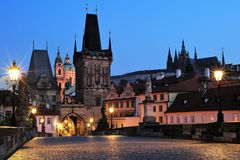 Praga Lesser Quoter Gate Fotografia de Stock Royalty Free