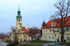 Praga Loreta Church da natividade do senhor, Praga, República Checa imagens de stock