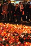 Praga, luzes da vela para Vaclav Havel Foto de Stock Royalty Free
