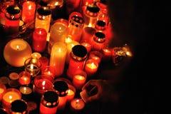 Praga, luzes da vela para Vaclav Havel Imagem de Stock Royalty Free