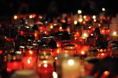 Praga, luzes da vela para Vaclav Havel Fotografia de Stock Royalty Free