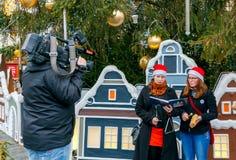 praga Músicas do Natal Fotos de Stock Royalty Free