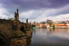 Praga melancólica Foto de archivo libre de regalías