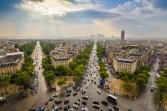 Praga miasta linia horyzontu obrazy royalty free