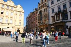 Praga miasta ludzie Zdjęcie Royalty Free
