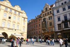 Praga miasta ludzie Fotografia Royalty Free