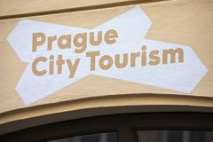Praga miasta turystyka Zdjęcie Royalty Free
