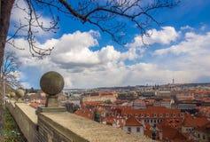 Praga miasto od kasztelu Fotografia Stock