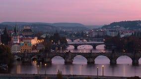 Praga mosty Zdjęcia Royalty Free