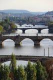 Praga mosty Fotografia Royalty Free