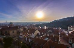 Praga na manhã Imagem de Stock Royalty Free