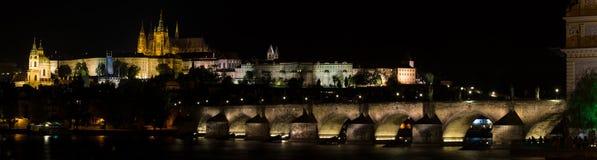 Praga na noite Foto de Stock