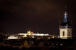 Praga na noite Fotografia de Stock Royalty Free